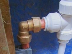 Using Push Fit Connetors for Waste Pipe Fittings
