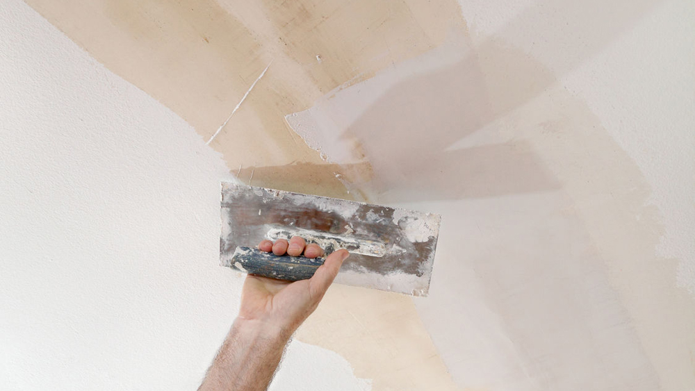 Repairing A Ceiling Hole Mending Holes In Plaster