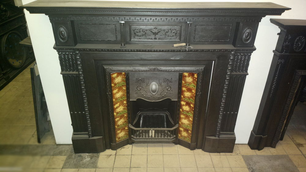 Restoring A Cast Iron Fireplace, How To Clean Iron Fireplace Surround