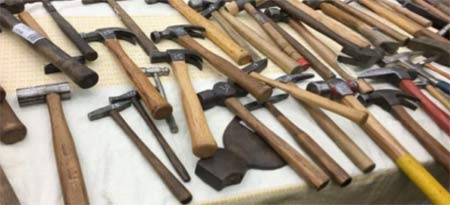 Selection of different hammers