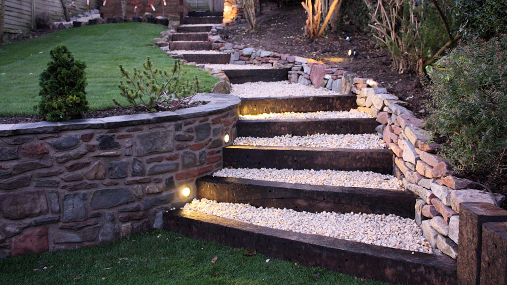 Creating Steps Using Sleepers Railway Sleeper Steps