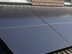 Solar panels installed on property roof