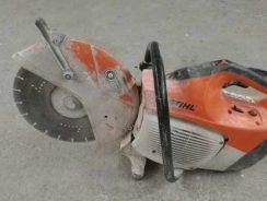 Petrol cut off saw or stone saw