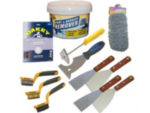 Paint, wallpaper and other coverings stripping tool kit