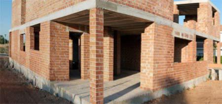 Well constructed brick walls