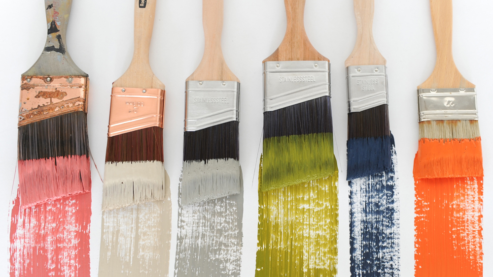 Types Of Paint Brush Used For Decorating Around Teh Home