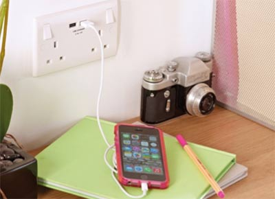 USB double electrical socket