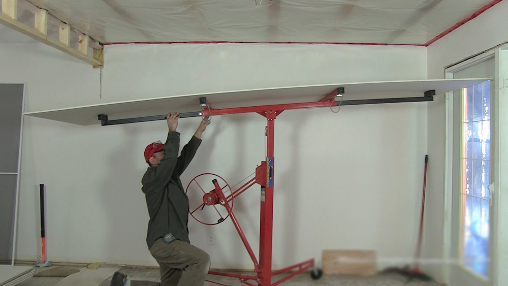 Using A Plasterboard Lifter To Move And Position