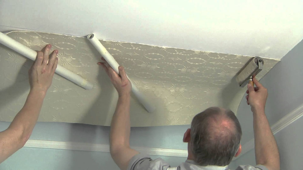 How To Wallpaper A Ceiling In Easy To Follow Steps Diy