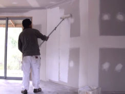 Preparing New Plaster for Wallpaper and Paint