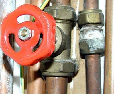 Water tank gate valve
