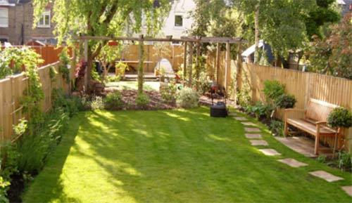 Well kept garden