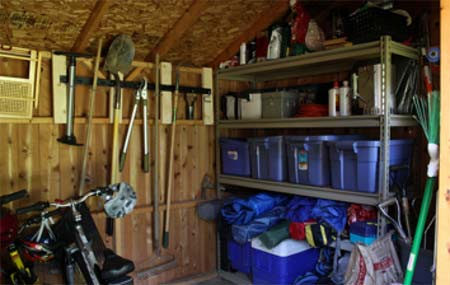Well kept and organised shed