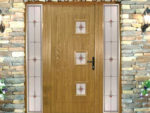 Solid oak front door