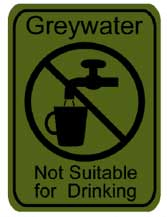 Grey Water not suitable for drinking notification