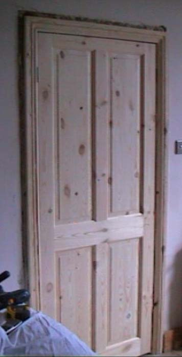 Finished job of a door fitted to frame