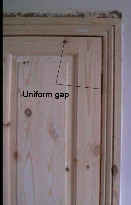 View Of Uniform Gap Surrounding Newly Fitted Door
