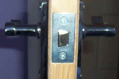 Lock fitted to newly installed door