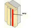 Intumiscent door strip