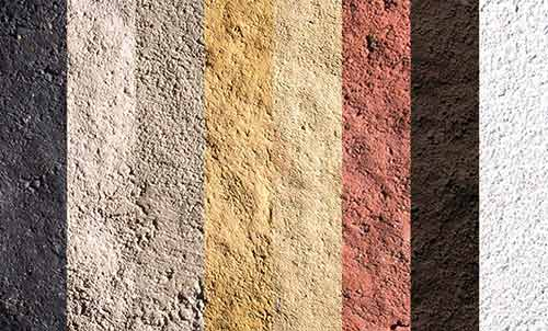 Mortar colour samples