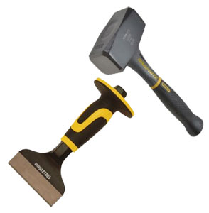 Lump or club hammer and bolster