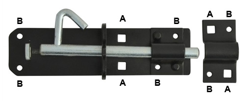 Brenton lock bolt holes and screw holes