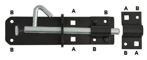 Brenton lock bolt holes and screw holes