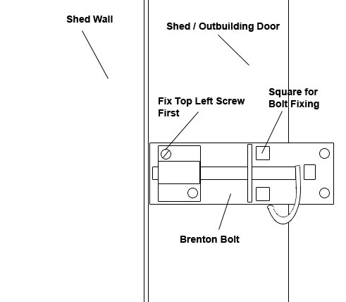 Insert first screw into door bolt