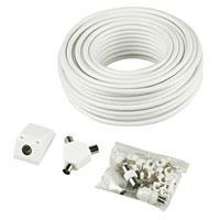 Coaxial cable kit with all fittings
