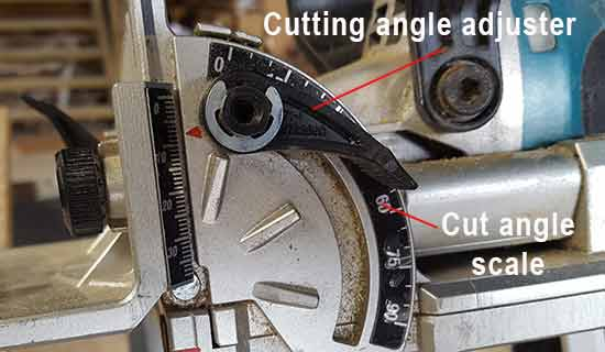 Setting the cutting angle