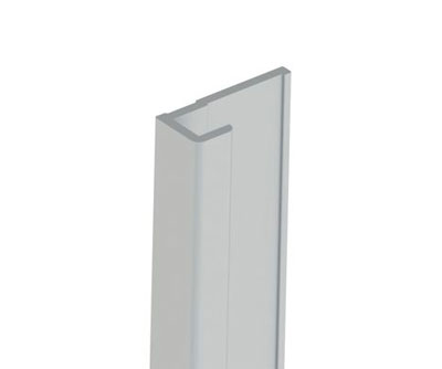Aluminium edging cap for splashbacks