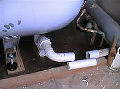 Connecting bath waste pipework