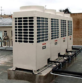 Large central air conditioning system