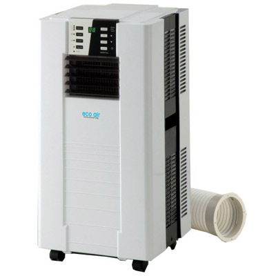 Single hose portable air conditioner