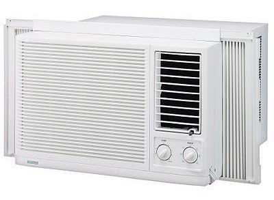 Window or wall mounted air conditioner