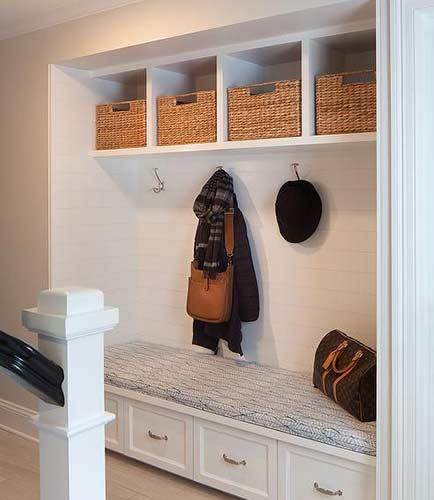 Alcove mudroom and coat storage