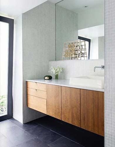 Bathroom alcove vanity unit