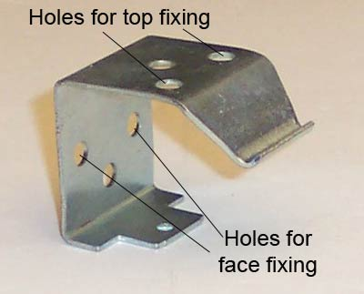 Different fixing points on blind bracket