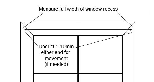 Measuring a blind for head fixing