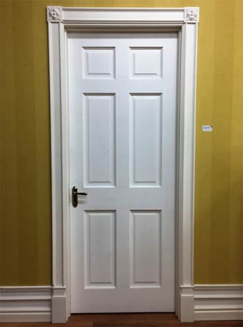 Architrave around door frame