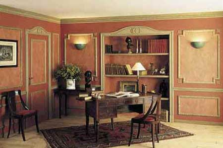 Classic design room using polyurethane mouldings
