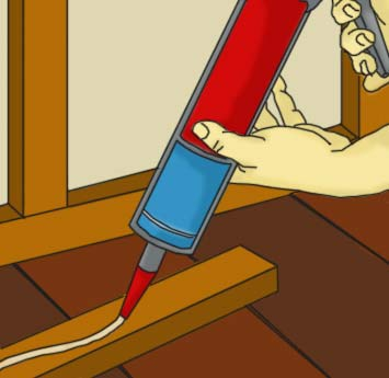 Adding adhesive to batten