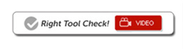 Right tool check video reviews