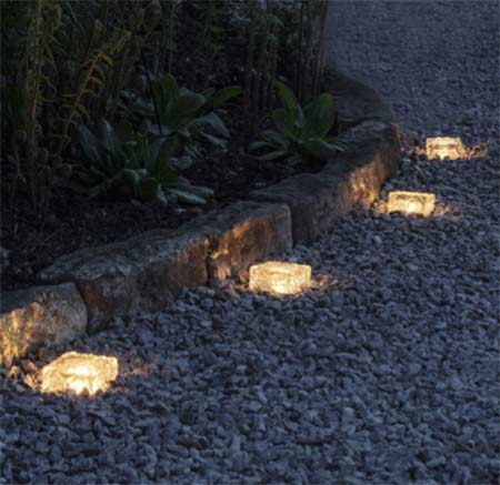 Solar lights along a Path