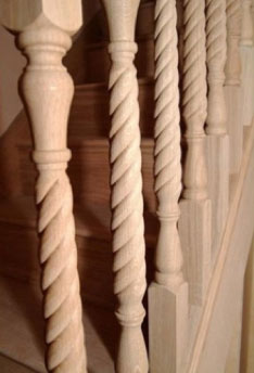 Traditional wooden spindle design