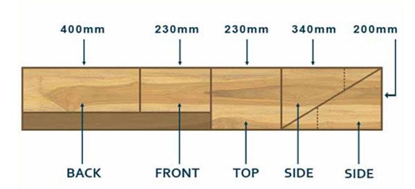 Simple bat box cutting plan