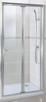 Bi-folding shower door