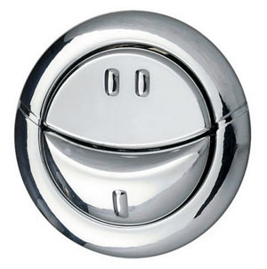 Dual flush push button for cistern