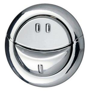 Dual flush push button for cistern
