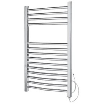 Curved electric towel radiator